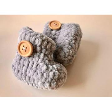 Buciki niemowlęce ręcznie robione rękodzieło