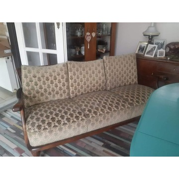 Sofa rattan antyk