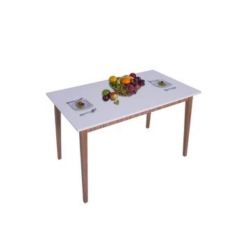 Stół kuchenny skandynawski 100x60x18 Biały Mat PL