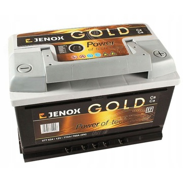Akumulator Jenox Gold 77AH 760A P+