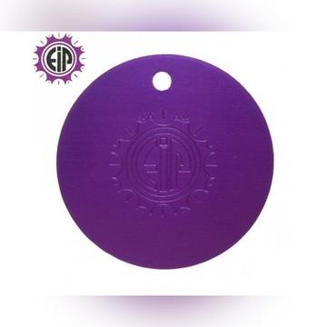 Purpurowa Płytka Tesli -oryginalna USA - dysk 4 cm