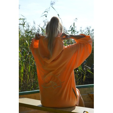 SURF PONCHO ORANGE ROZM. S