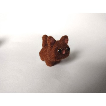 Brelok zawieszka kot kotek brązowy handmade