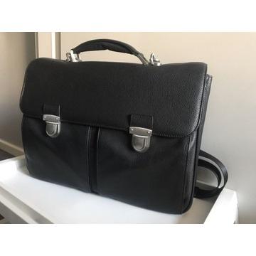 Skórzana torba Fujitsu Supreme 15,6 - jak nowa