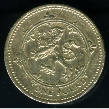 moneta 1994 one pound podwójnie grubsza