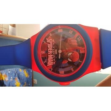 Duży zegar spiderman na ścianę