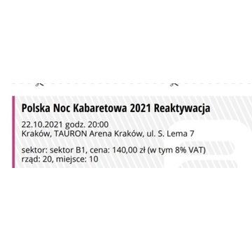 Bilety na Noc Kabaretową Kraków 22.10.2021