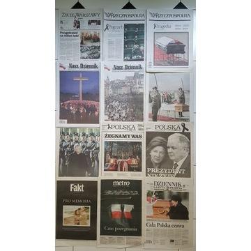Gazety po 10.04.2010 Katastrofa Smoleńska