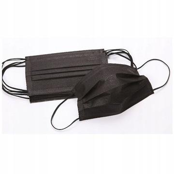Maseczki ochronne bawełna - czarne 50 szt