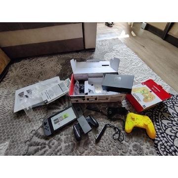 Nintendo Switch V2 64Gb zestaw Pad Gratis