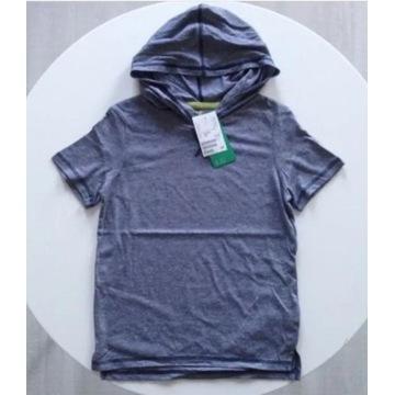 H&M Koszulka T-SHIRT 122/128 z Kapturem Paski NOWY