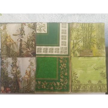 Serwetki do decupage'u - zieleń, liście, ogród