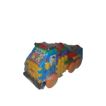 Klocki konstrukcyjne Tupiko Ciężarówka zwierzęta