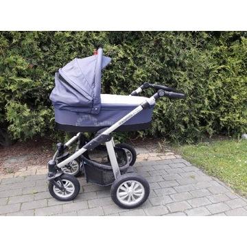 Wózek głęboki Baby design granat