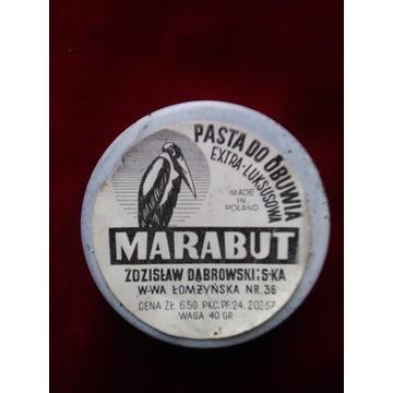 """"""" MARABUT"""" PASTA DO OBUWIA . Z.DĄBROWSKI I S-KA..."""