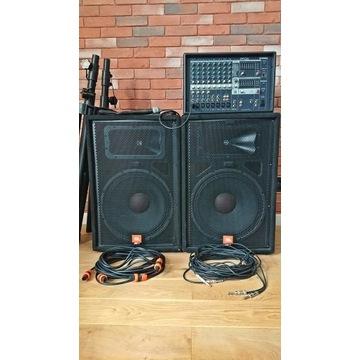Powermixer Yamaha na głośnikach JBL