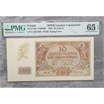 10 złotych 1940 ( London Counterfeit )