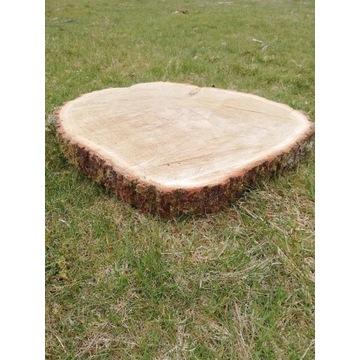 Stolik plaster drewna dąb 70 cm×6-8cm