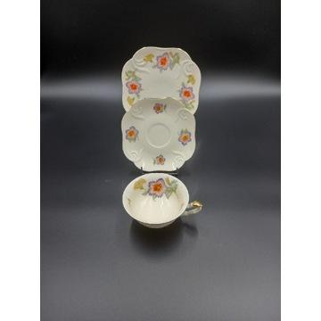 Koplet śniadaniowy porcelana filiżanka