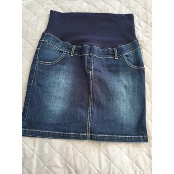 Spódniczka jeans ciążowa XL