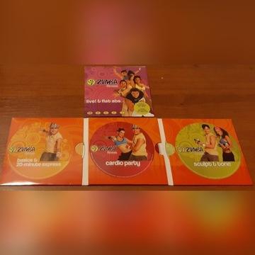 DVD ZUMBA fitness zestaw 4 płyty
