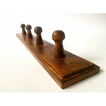 wieszak drewniany wiszący ścienny 38cm CIEMNY DĄB