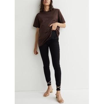 Spodnie ciążowe rurki H&M Mama super skinny jeans