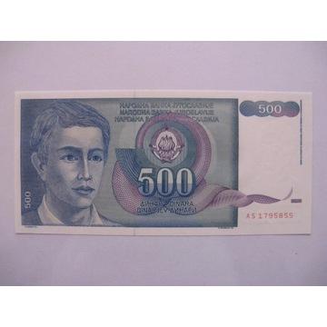 Jugosławia - 500 Dinara - 1990 - P106 - St.1