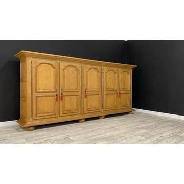 4220/012 Ogromna drewniana Komoda dębowa 305 cm