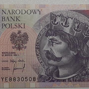 Banknot 20zł 1994 r. ser YE UNC /Ser. zastępcza/