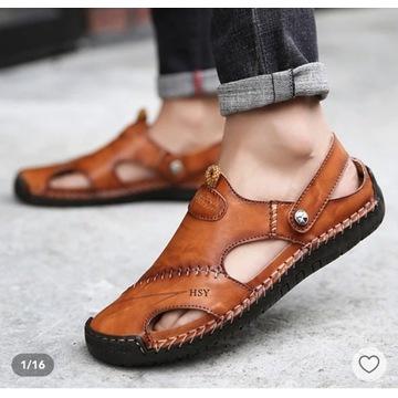 Sandały męskie skórzane 44