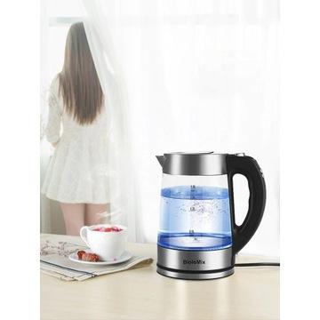 cyfrowy szklany czajnik z regulacją temperatury