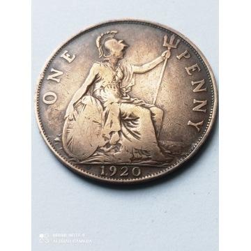 1 Pens z 1920 roku, Anglia, ładnie zachowana
