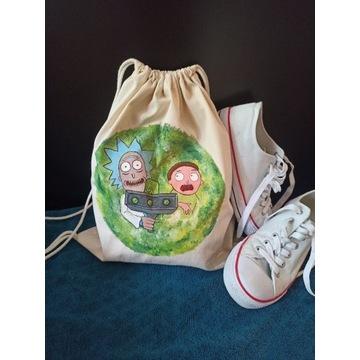 Plecak Worek Torba ze ściągaczem Rick and Morty