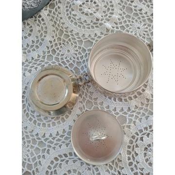 Posrebrzany zaparzacz do herbaty, sygnowany