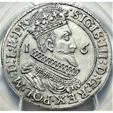 Ort 1623 Gdańsk PCGS PIĘKNY Zygmunt III Waza