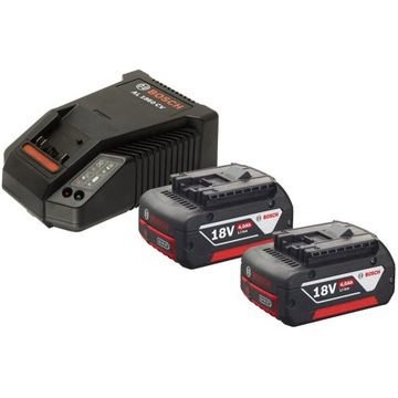 BOSCH zestaw 2x GBA 18V 4.0Ah M-C ladowarka AL1860