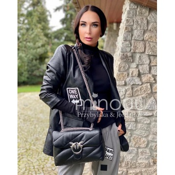 marynarka Leather Sarah black rozmiar M