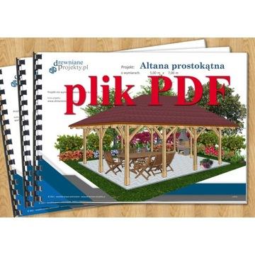 Projekt: Altana ogrodowa drewniana 4,5m x 7,0m PDF
