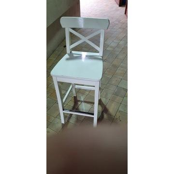 krzesło barowe białe IKEA  INGOLF