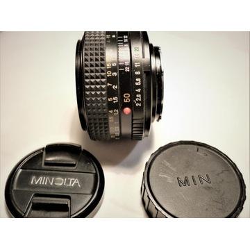 Obiektyw stało ogniskowy Minolta MD 50 mm 1:2