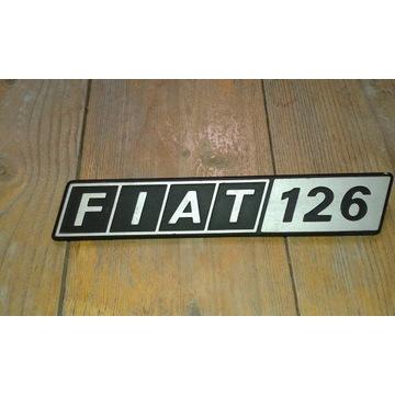 Znaczek samochodowy emblemat tabliczka fiat 126