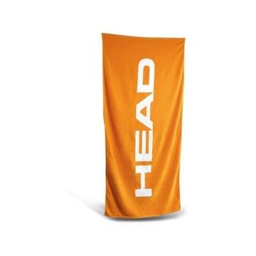 Duży ręcznik Head - bawełna - pomarańczowy
