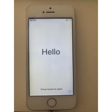iPhone 5s, srebrny, 16gb, b dobry stan - Polecam!
