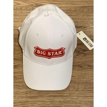 Czapeczka Big Star Biała UNISEX - Nowa