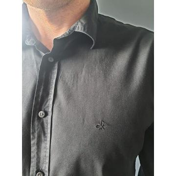 Czarna koszula męska CK (Calvin Klein) rozmiar L