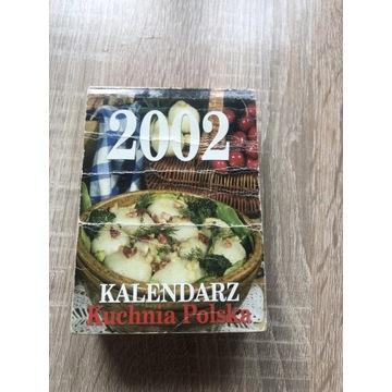 Stary kalendarz kartkowy z 2002 roku