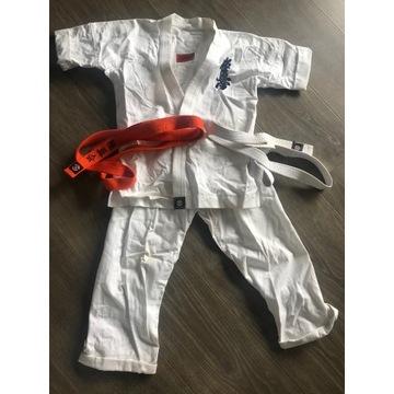 strój karate roz 146  plus pas pomarańczowy