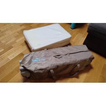 Łóżeczko turystyczne Baby Design Simple + materac