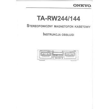 Instrukcja ONKYO TA RW244 PL